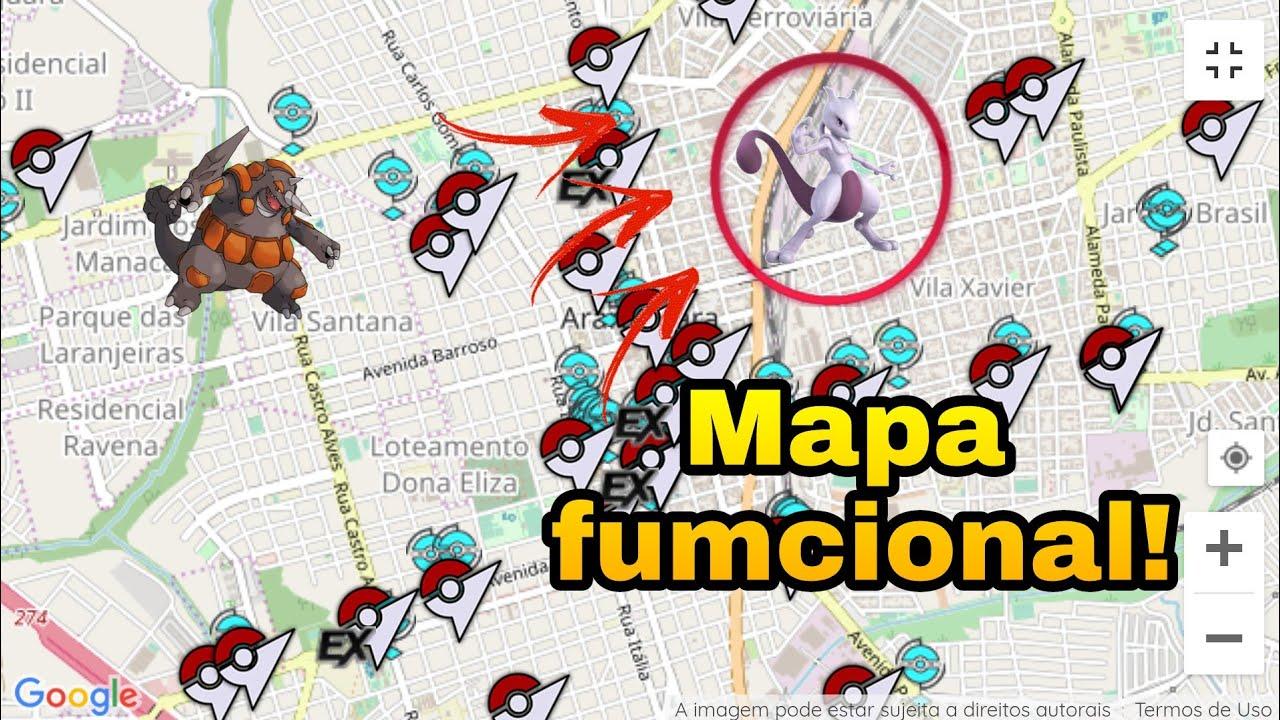 MAPA FUNCIONANDO NO BRASIL! Pokémon go