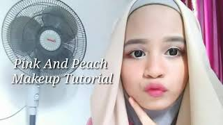 PINK AND PEACH MAKEUP TUTORIAL |Zee SA Fitri|