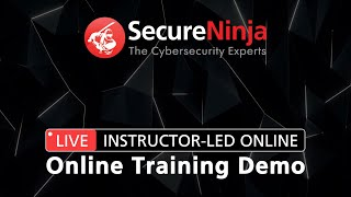 SecureNinja ▶︎ Live Instructor-Led Online Training