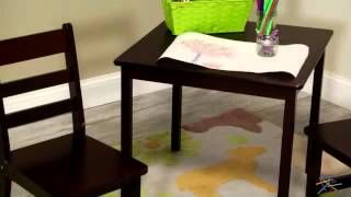 Lipper Childrens Square Table And Chair Set - Product Review Video