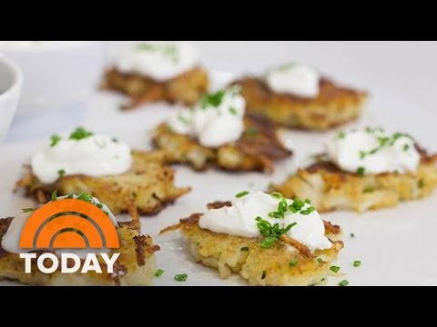 Thumbnail: Ina Garten Makes Holiday Appetizers: Potato Pancakes, Fig And Goat Cheese Bruschetta | TODAY