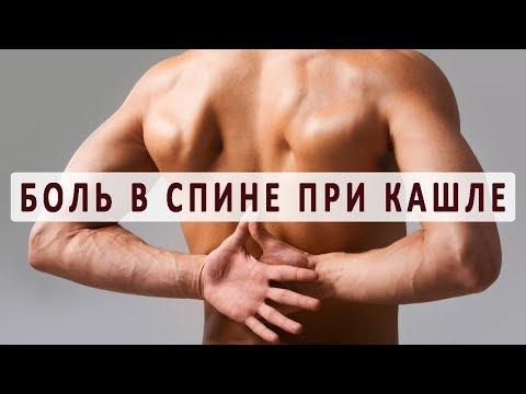 Из-за чего болит спина во время кашля?
