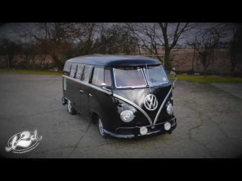 Type 2 Detectives Black VW Split Screen Van