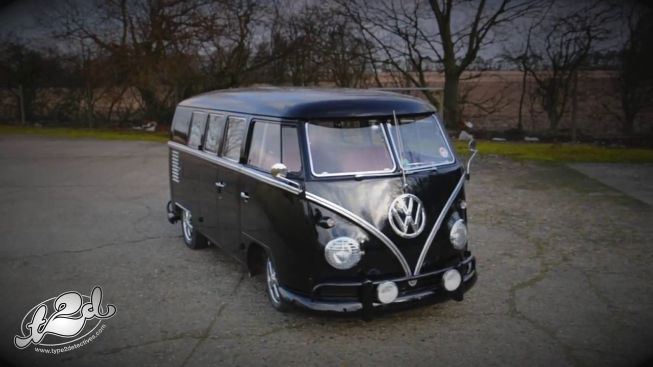 Vw Camper Van >> Type 2 Detectives Black VW Split Screen Van - YouTube