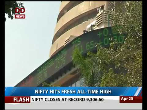 Nifty hits fresh all time high