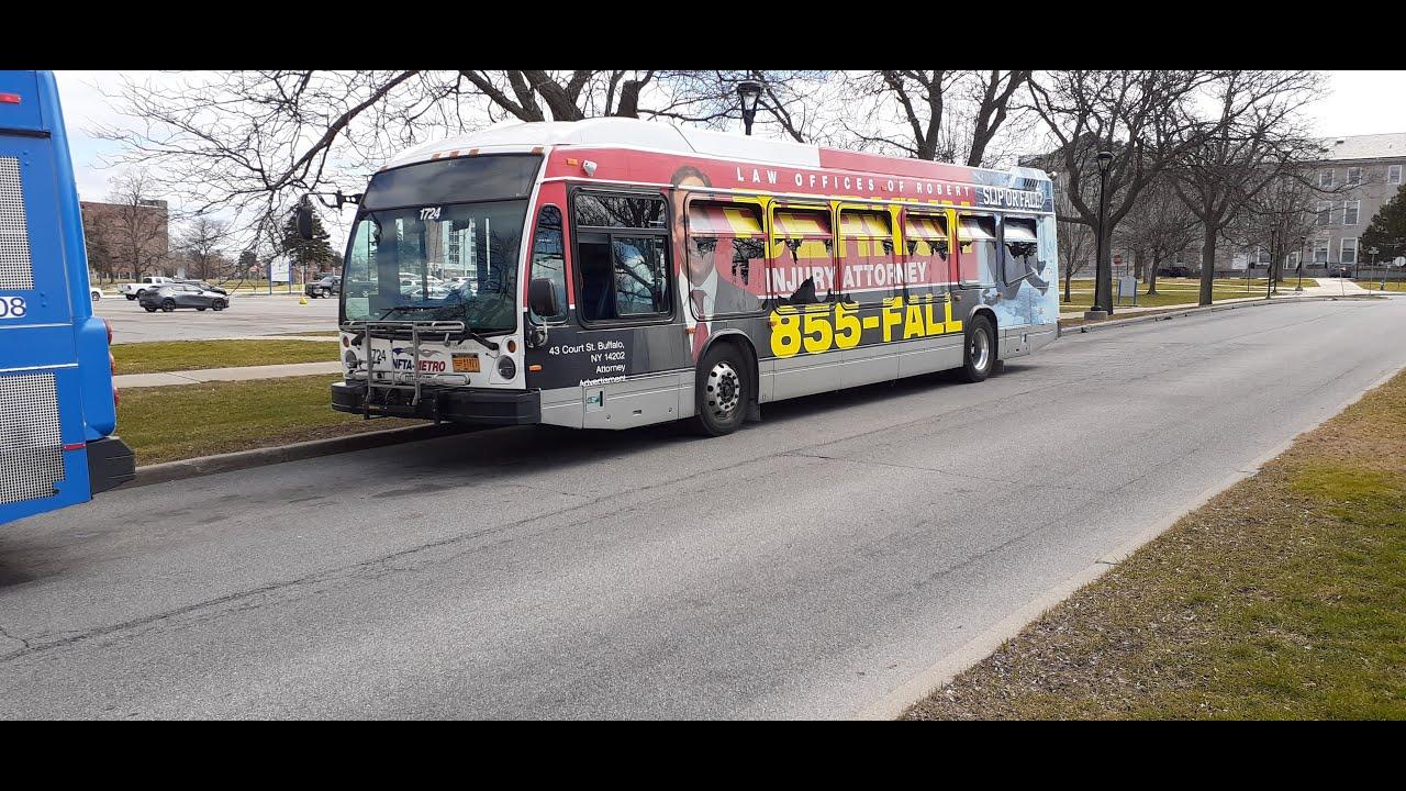 [Audio Clip] NFTA Metro Ride Route 12A Inbound Bus 1724 - 2017 Novabus LFS Diesel - YouTube