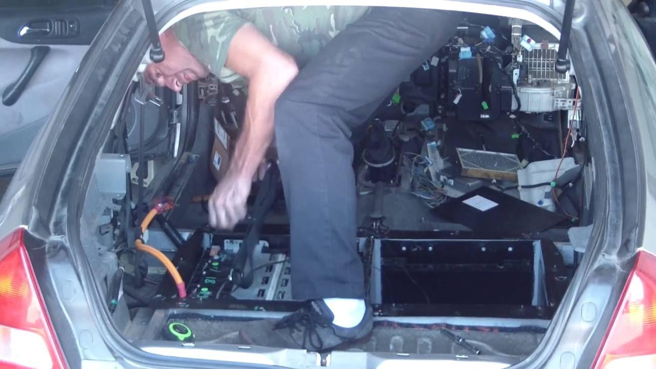 Putting The Batteries Into 2000 Honda Insight Ev Conversion