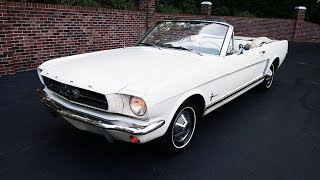 1965 Ford Mustang Convertible in white for sale Old Town Automobile in Maryland