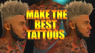 NBA 2K16 Tips/Tricks - Full Arm Sleeve Tattoo Tutorial | How To Make The Best Tattoos