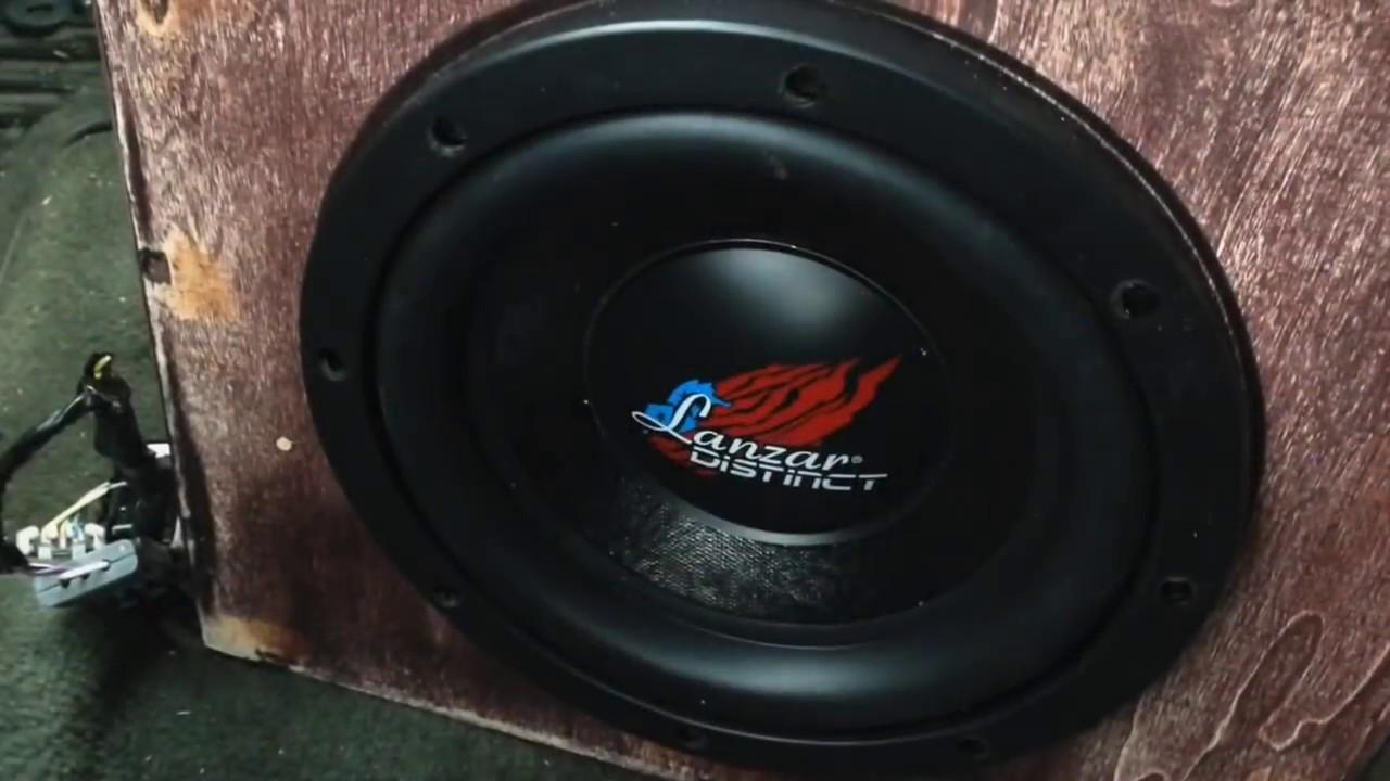 Cheap car audio 8 inch subwoofer / lanzar dct84d /Mockman reviews