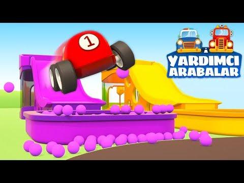 Küçük çocuklar Için Eğitici çizgi Film. Yardımcı Arabalar Ile Arabaları Boyayalım!