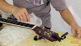 Thay dây đàn Acoustic Guitar chuyên nghiệp 3. Thay dây mới