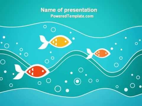 fish theme powerpoint template by poweredtemplatecom