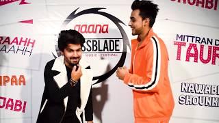 Armaan Bedil Backstage Fun at Gaana Crossblade Jaipur 2019