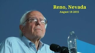 Bernie Sanders Full Speech 8/18/2015: Reno, Nevada