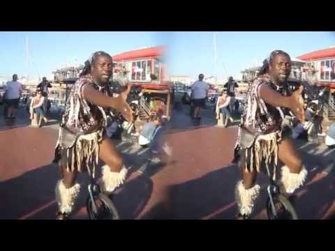 3D VR: African acrobat/comedian: part 1/2 (in 3D for Cardboard VR)