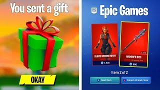 I gifted MARVEL skins to my Fortnite clan if they beat me...