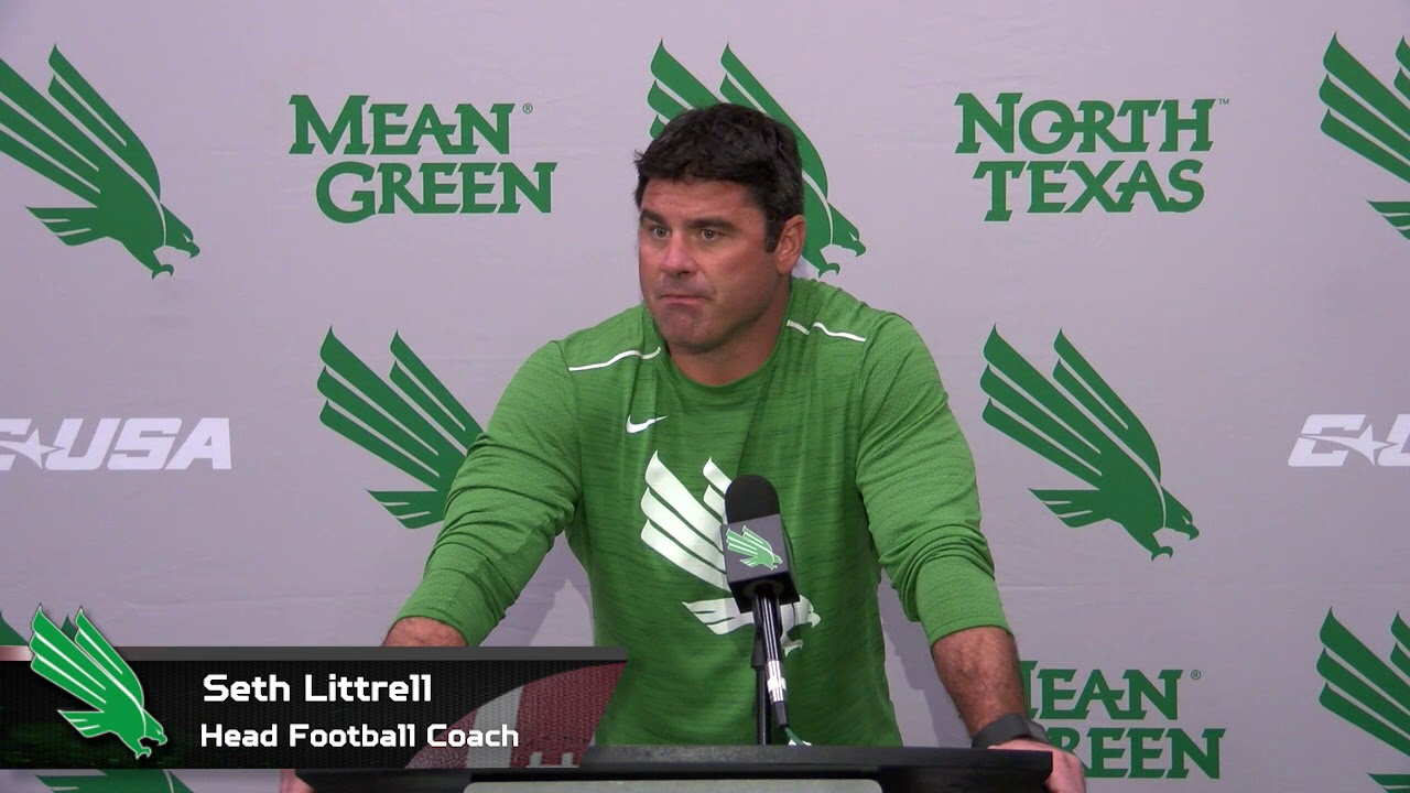 North Texas Football: Seth LIttrell Weekly Press Conference - WK3 ...