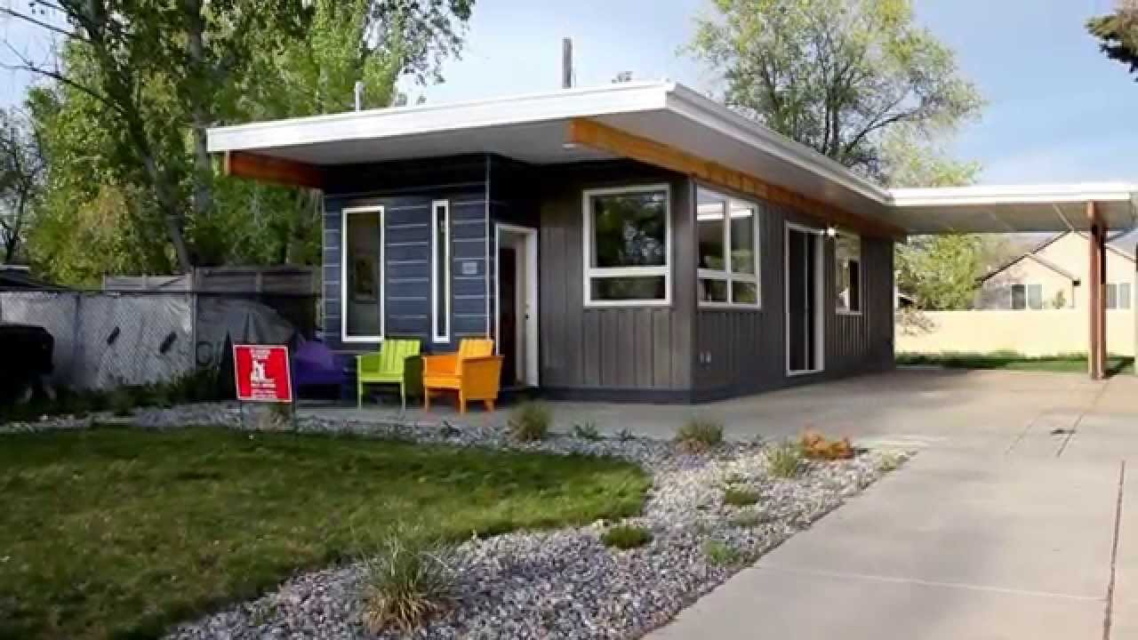 shipping container home - sarah house utah - youtube