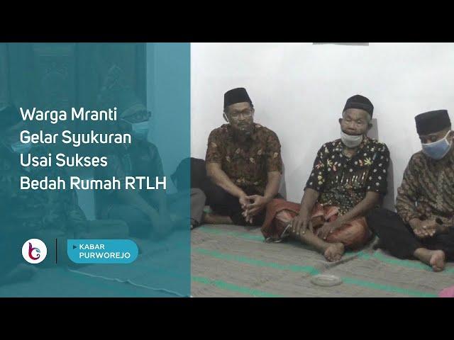 Warga Mranti Gelar Syukuran Usai Sukses Bedah Rumah RTLH