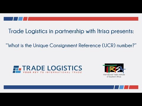 What is the Unique Consignment Reference (UCR) number?