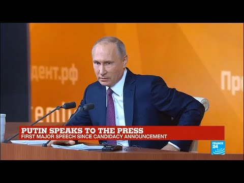 Russia: President Putin holds annual press conference