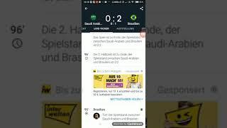 Saudi Arabien gegen Brasilien 0:2