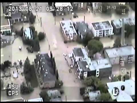 HAWCS Flying Over Calgary Flood