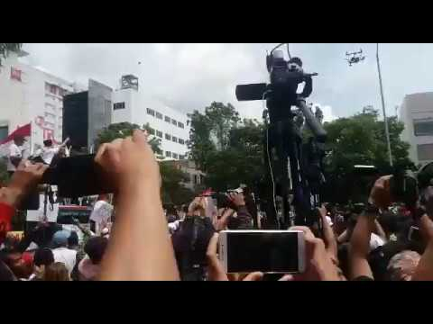 Jakarta Governor Ahok leaving court in an armoured vehicle