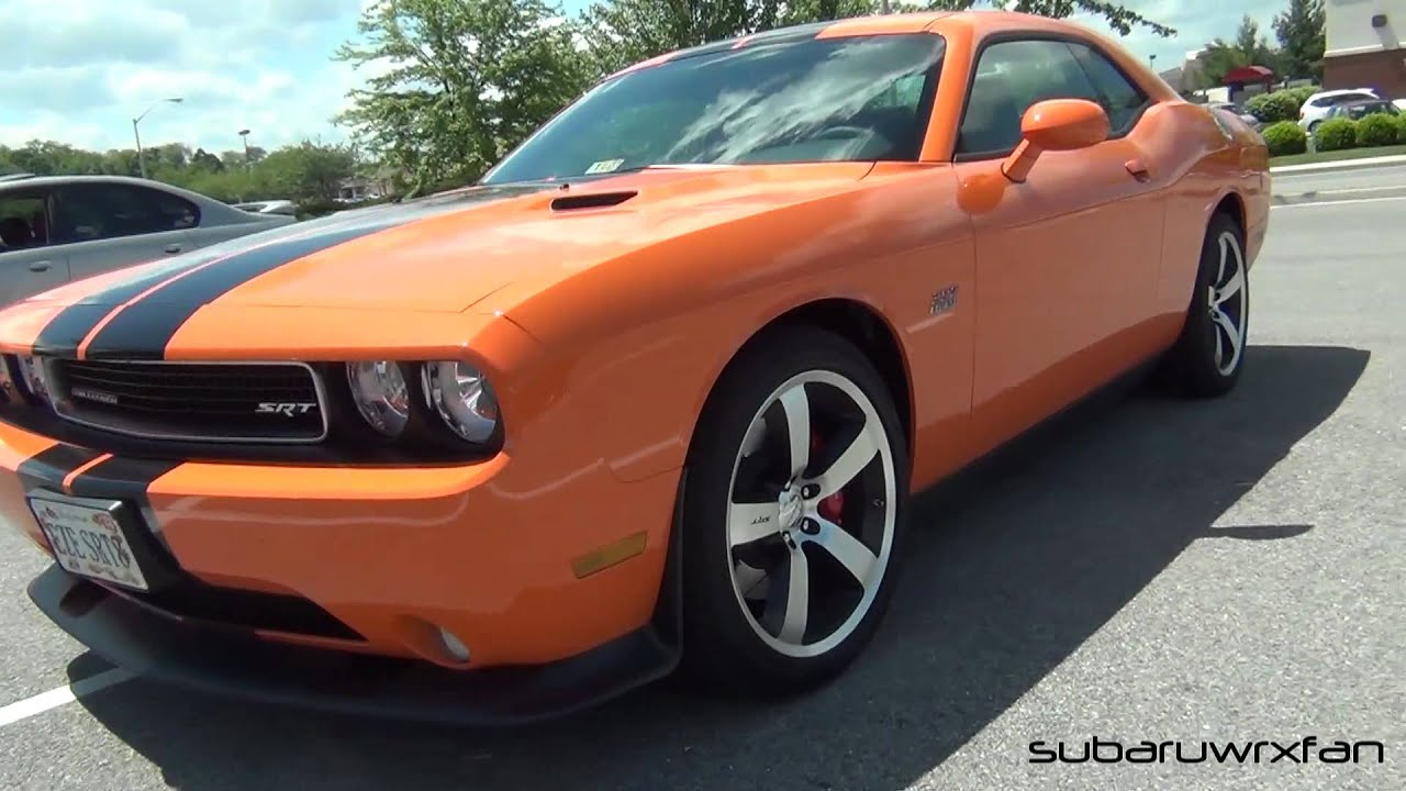 dodge challenger srt8 392 in header orange youtube. Black Bedroom Furniture Sets. Home Design Ideas