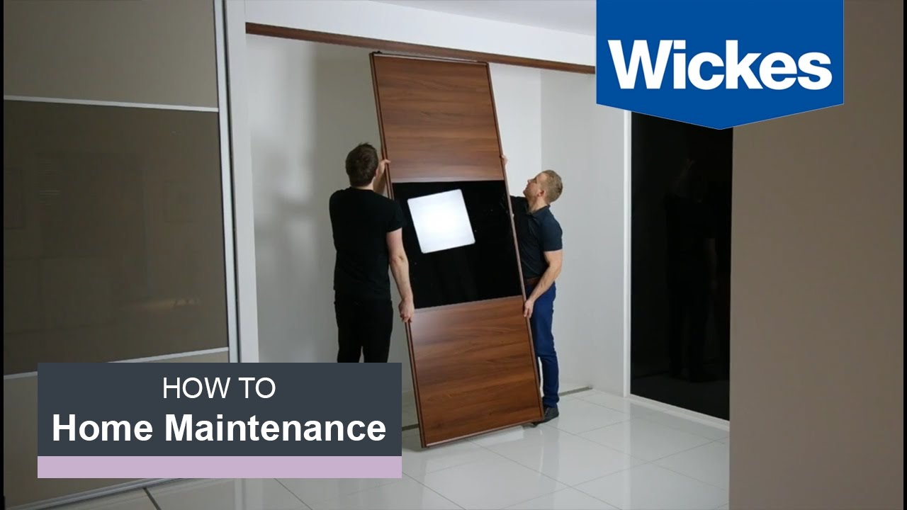 How to Measure & Fit Wardrobe Doors with Wickes - YouTube B And Q Sliding Wardrobe Doors Track on