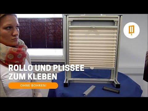 Rollomeister Rollo Und Plissee Zum Kleben Ohne Bohren In Der Glasleiste Auf Dem Fensterrahmen