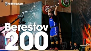 Dmitry Berestov (115.7kg) 200kg / 440 lbs Thruster 2016 Klokov Power Weekend