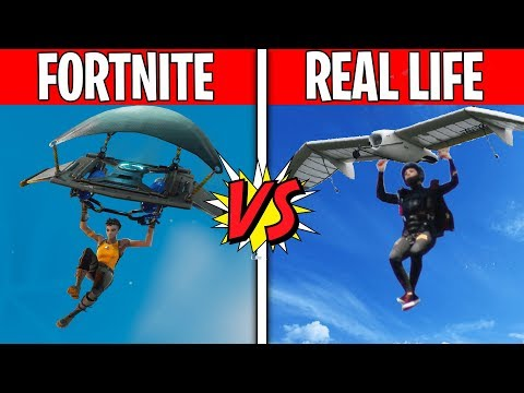 FORTNITE GLIDER IN REAL LIFE! Fortnite Vs. Real Life