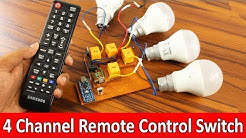 Remote Control ON/OFF Switch | control fan and light using