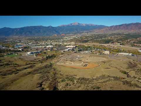 Aerial Colorado - Pikes Peak from Colorado Springs Drone