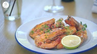 【寒露】百里香辣味大蝦|Spicy Prawn with Thyme|4K [Eng Sub]【Cooking ASMR】