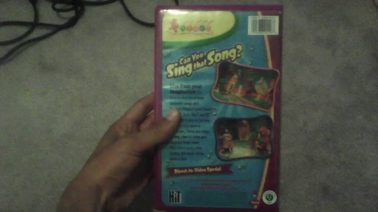 barney can you sing that song 2005 vhs youtube. Black Bedroom Furniture Sets. Home Design Ideas