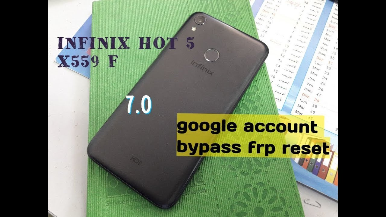 حدف كونت جوجل  remove google account  Infinix Hot 5 (X559F) _v7.0