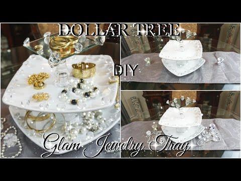 DOLLAR TREE DIY GLAM 3 TIERED VANITY JEWELRY TRAY ORGANIZER PETALISBLESS🌹