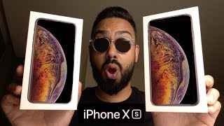 iPhone Xs and Xs Max UNBOXING and FIRST LOOK