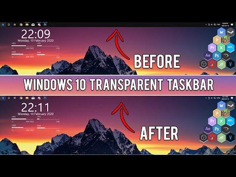 How To Make Taskbar Transparent In Windows 10