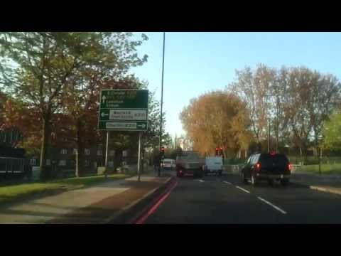 Driving in London - Woolwich to Greenwich Park