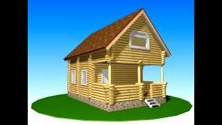 Проект дома из оцилиндрованного бревна Д - 1(, 2014-01-09T17:59:27.000Z)