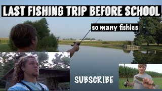LAST FISHING TRIP BEFORE COLLEGE | Fishing in Ohio