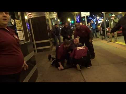 Security restraining a guy outside Royal Oak Music Theater 12/30/2016 Greensky Bluegrass