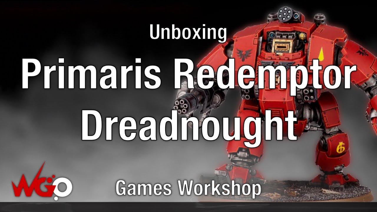 Games Workshop Primaris Redemptor Dreadnought Unboxing - YouTube