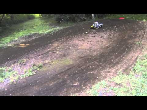RC4 replica RC dirt bike first long track fun slow mo