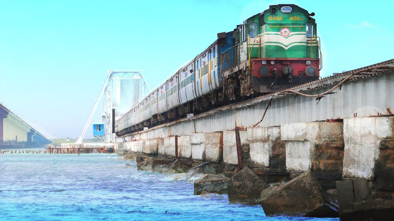 100 Years Pamban Bridge & Boat Mail