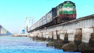 100 Years Pamban Bridge & Boat Mail - Train over the sea | Rameswaram